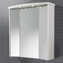 High Gloss White Mirrors & Cabinets